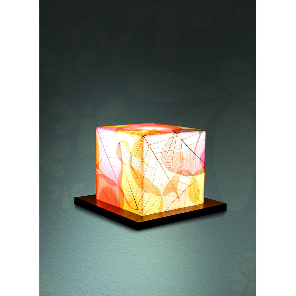 acrylic with dried leaf table lamp – sunshine boulevard - acrylic with dried leaf table lamp