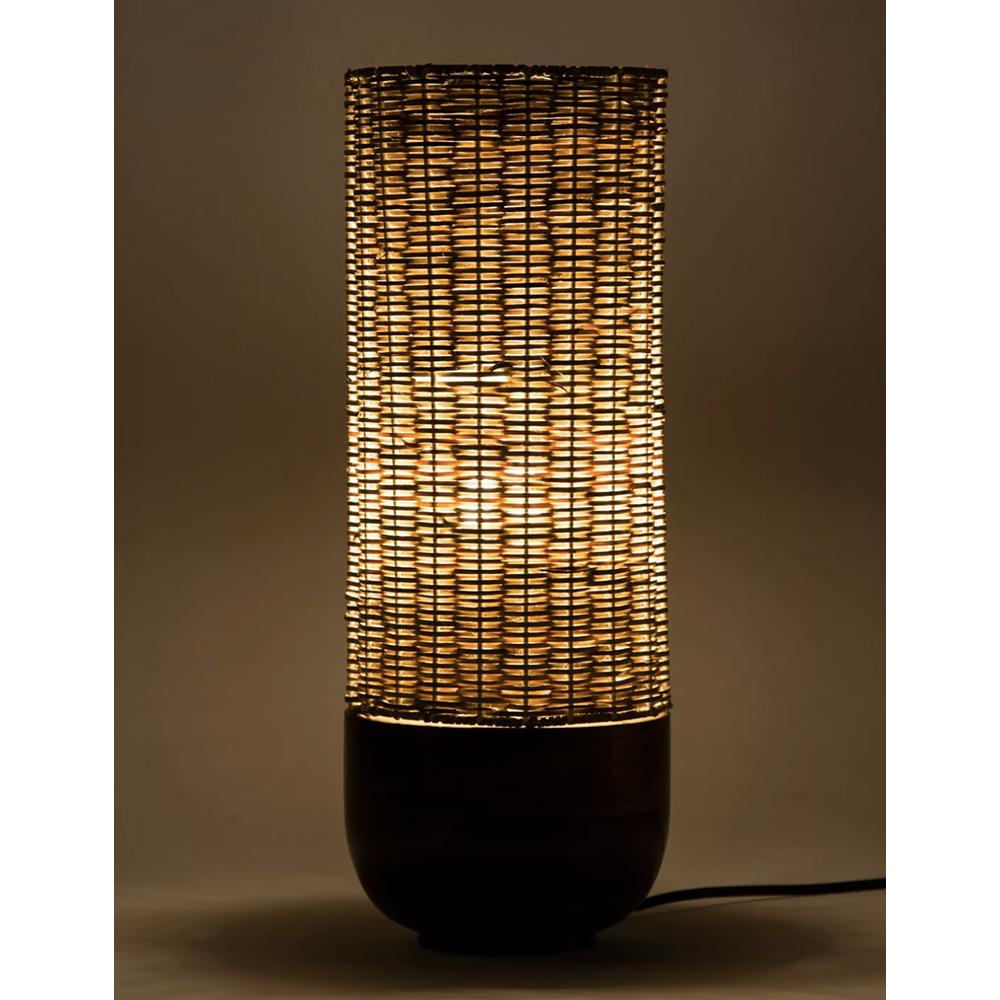 Cane & Wood Table Lamp