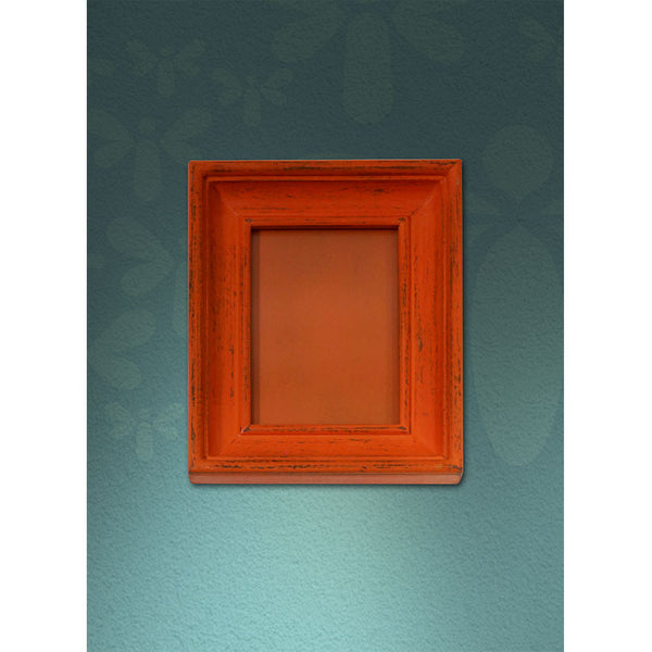 Vintage Wooden Photo Frame - Orange