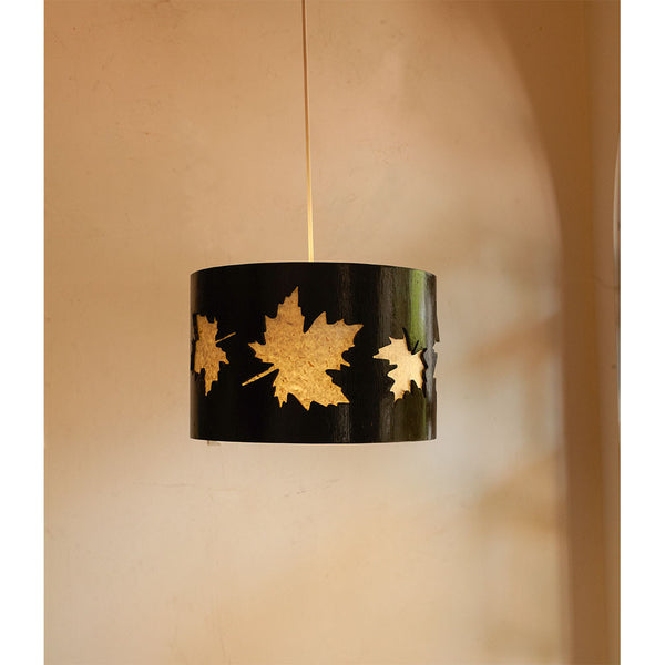 Wooden Cutwork Drum Ceiling Lights