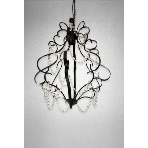 Black Chandelier  with crystal