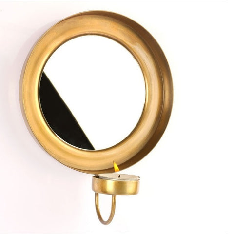 Wall Chaand Brass T-Light