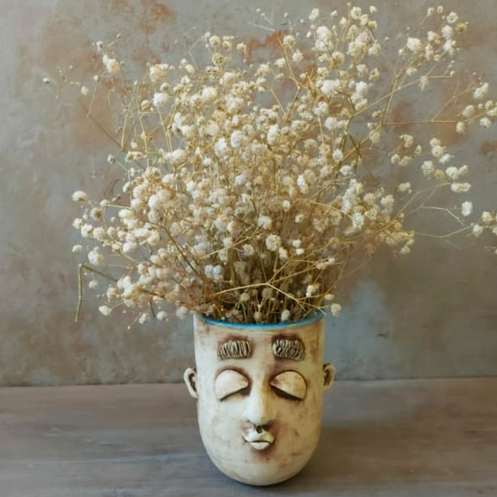 Face Vase/Holder/Planter