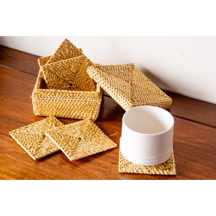 Golden grass coasters