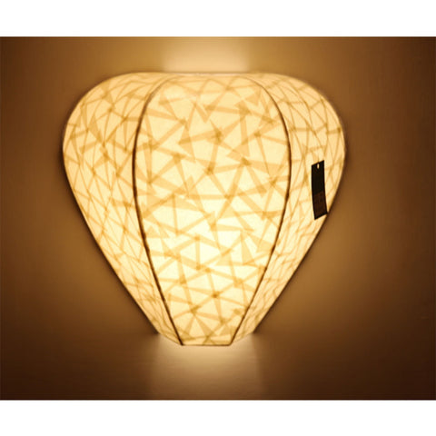Lotus paper wall light