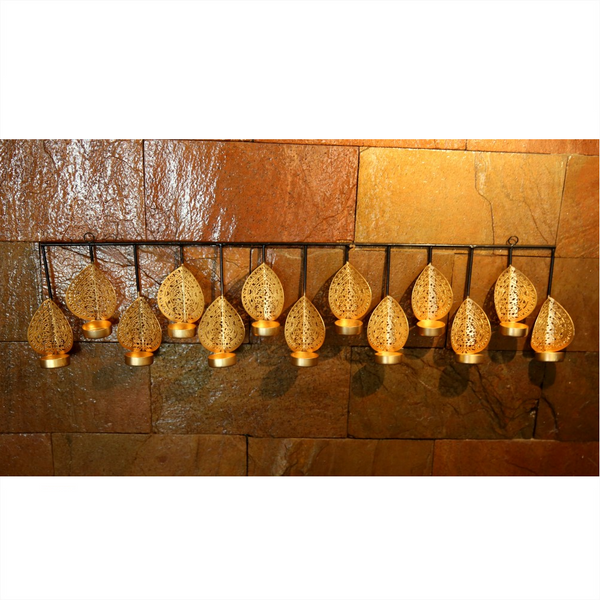 Mayur Hanging T-light Holder - Set of 13