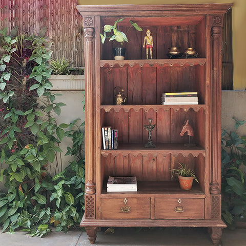 Antique Teak Wood Book Shelf