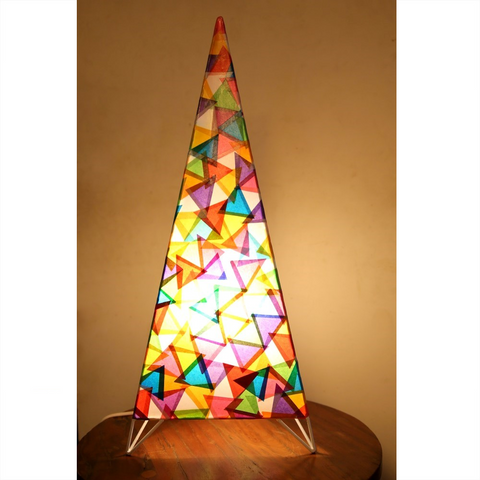 Colourful Triangle Table Lamp