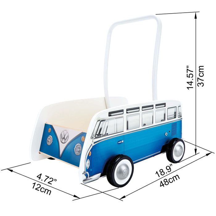 HAPE - Іграшка каталка «Classical Bus Walker Blue»