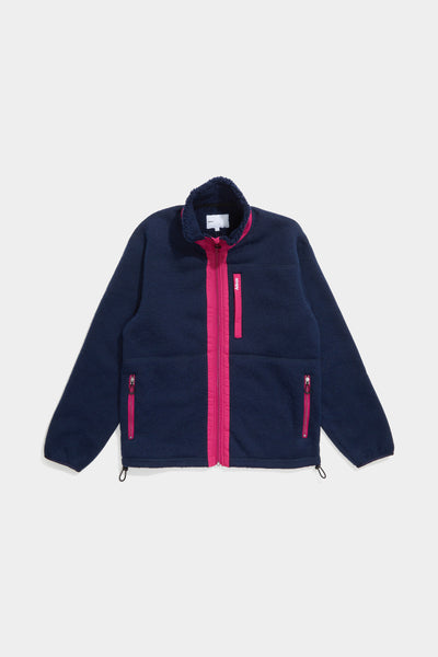 Adsum - Expedition Fleece - Navy & Magenta - Northern Fells