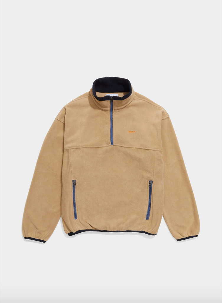 Adsum - TW Fleece Popover - Beige & Navy - Northern Fells