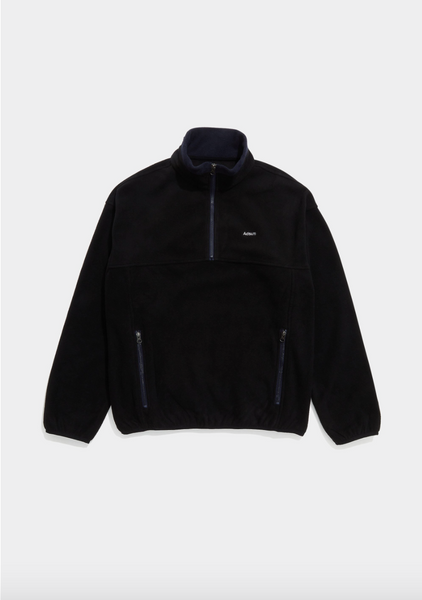 Adsum - TW Fleece Popover - Black & Navy - Northern Fells