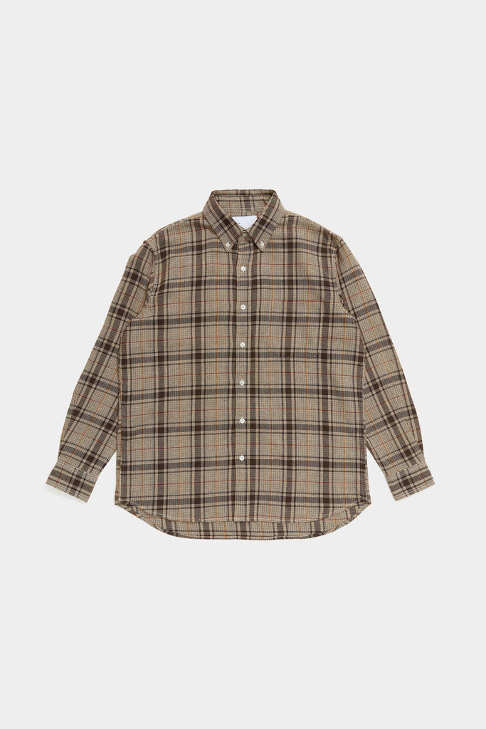 Adsum - Loose Weave Plaid Premium BD Shirt - Brown - Northern Fells