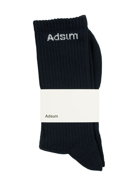 Adsum Core Logo Sock Navy The Northern Fells Clothing Company Full