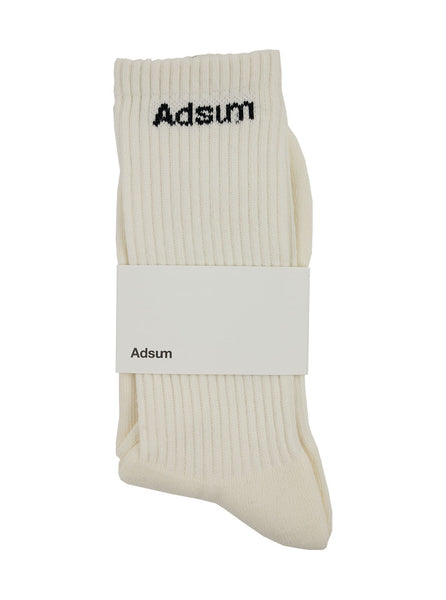 Adsum Core Logo Sock White The Northern Fells Clothing Company Full