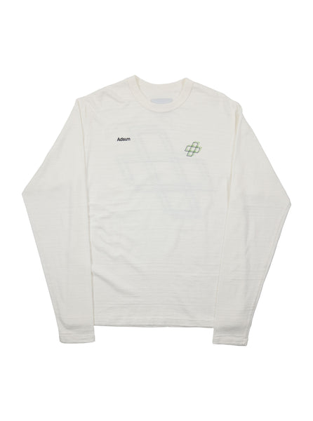 Adsum - Plus Long Sleeve T-Shirt - White