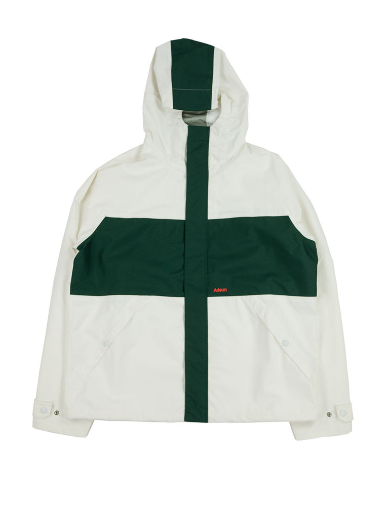 Adsum - Hardshell Anorak - White/ Rich Green - Northern Fells
