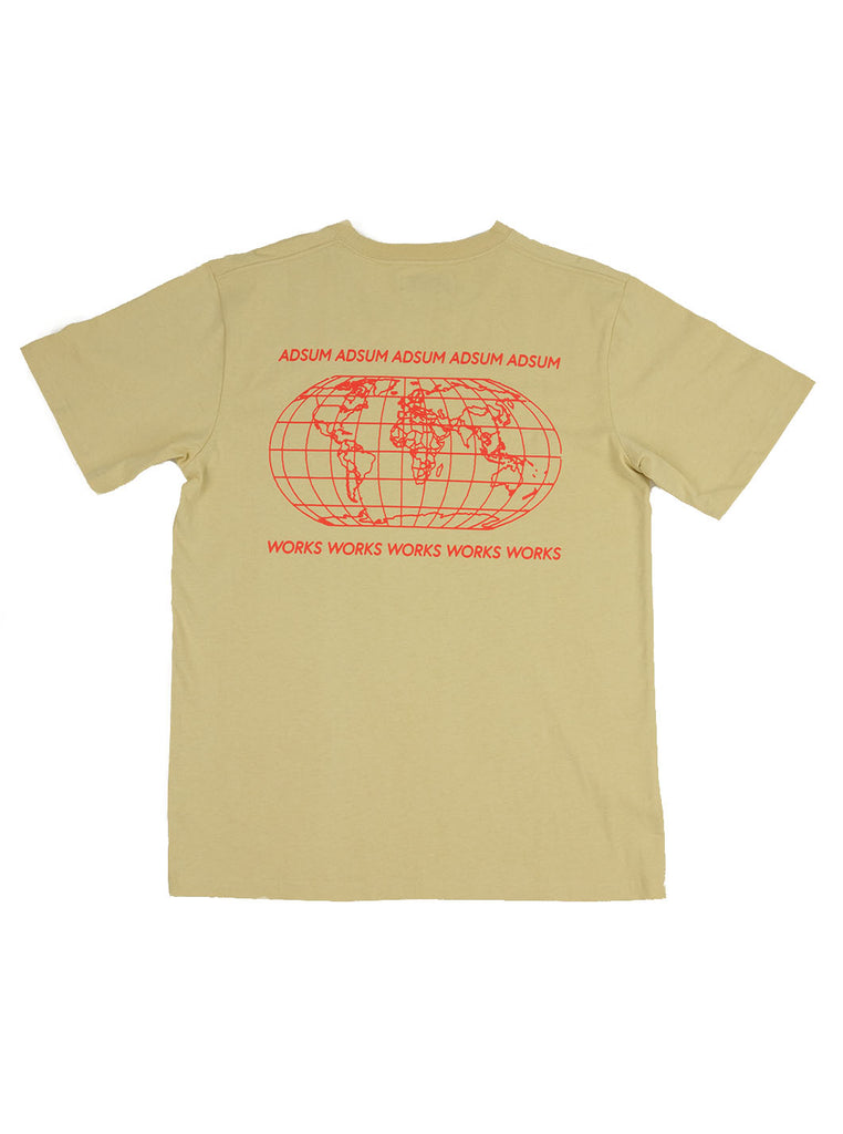 Adsum - Map Tee - Dusty Yellow - Northern Fells