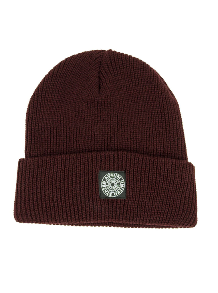 Adsum - Rag Wool Beanie - Maroon - Northern Fells