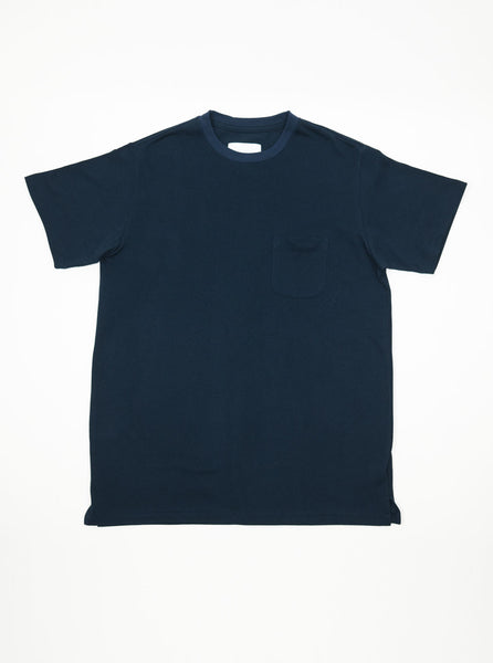 Adsum-NYC-Navy-Pique-short-sleeve-T-Shirt-The-Northern-Fells-Clothing-company
