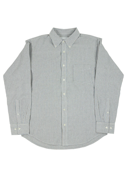 Adsum - Oxford Buttondown Shirt - Navy / Brown - Northern Fells