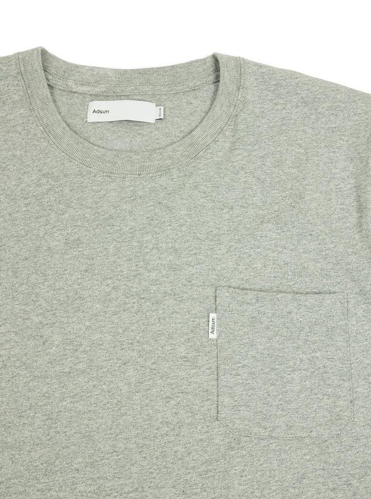 Adsum - Pocket T-Shirt - Heather Grey - Northern Fells