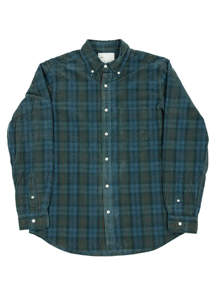 Adsum Premium Buttodown Blue Plaid Corduroy The Northern Fells Clothing Company Full