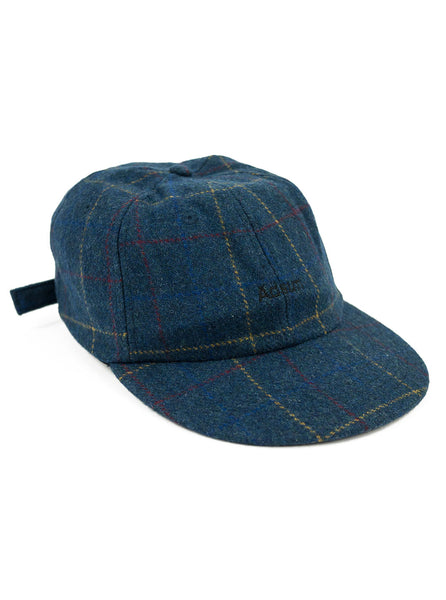 Adsum - Premium Wool Cap - Navy Plaid - Northern Fells