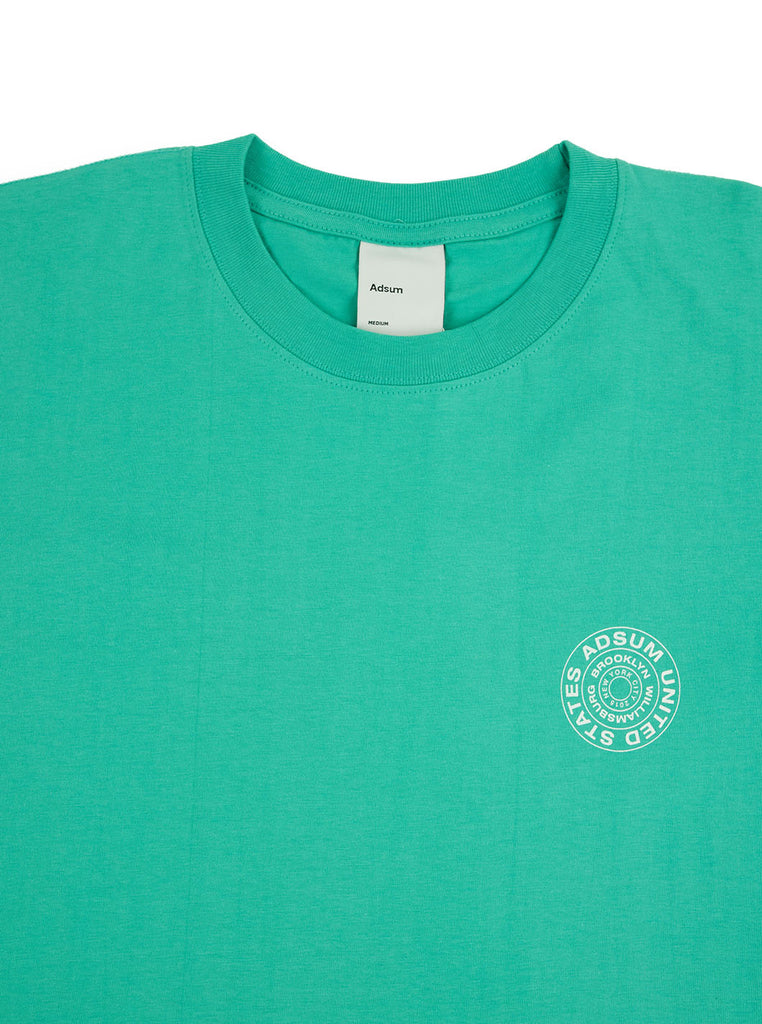 Adsum Stamp T-shirt Mint The Northern Fells Clothing Company Neck