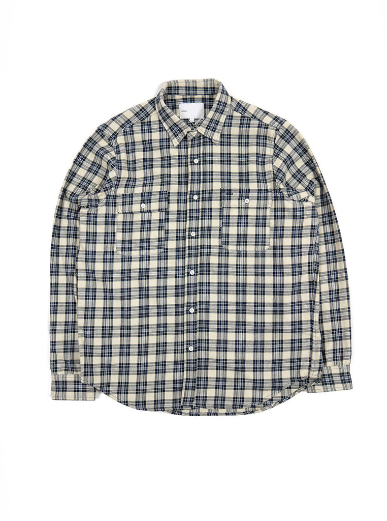 Adsum - Work Shirt - Off White & Light Blue - Northern Fells