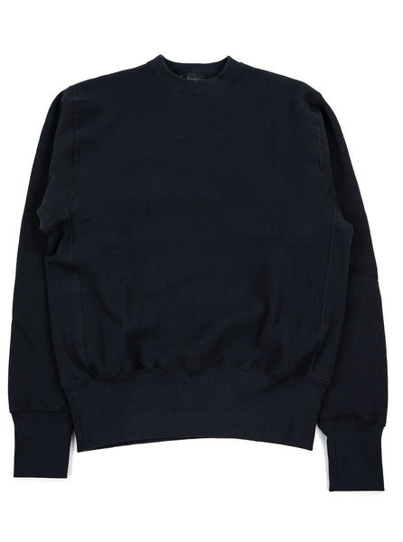 Camber Cross Knit Crew Black Made in USA The Northern Fells Clothing Company Full
