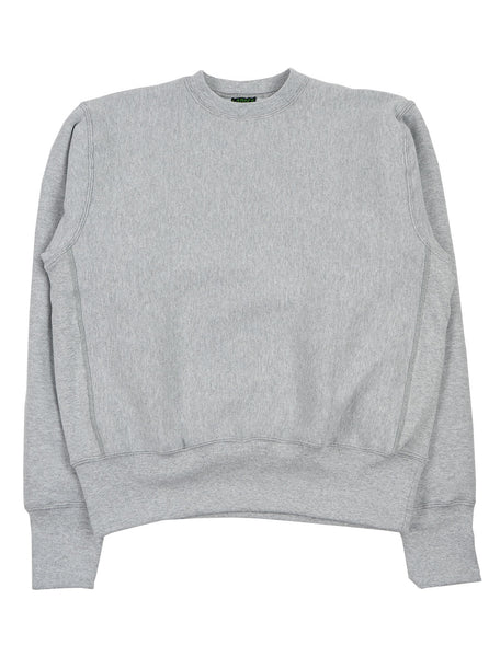 Camber Cross Knit Crew Grey Made in USA The Northern Fells Clothing Company Full
