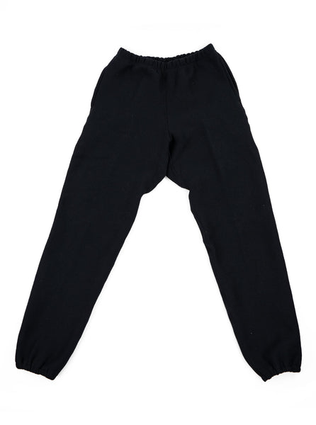 Camber Cross Knit Joggers Black Made in USA The Northern Fells Clothing Company Full