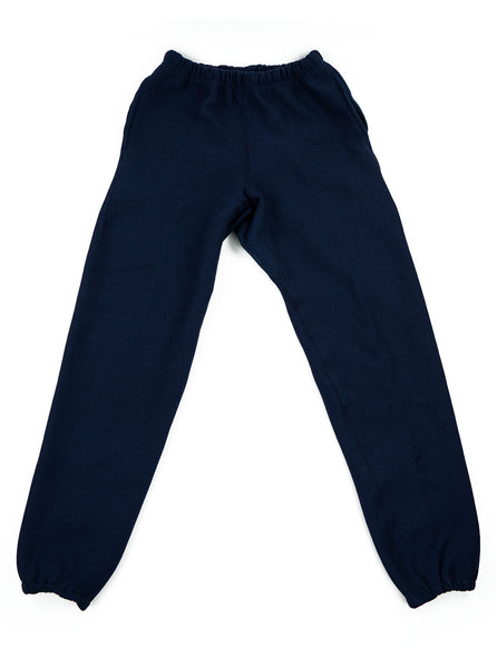 Camber Cross Knit Joggers Navy Made in USA The Northern Fells Clothing Company Full
