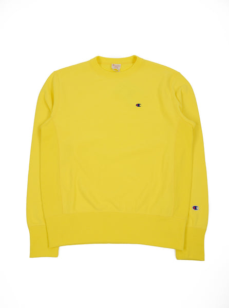 Champion Sweatshirt Bright Yellow The Northern Fells Clothing Company
