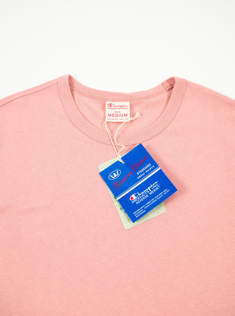ba319c58 Champion - Reverse Weave Classic T-Shirt - Pink – The Northern Fells ...
