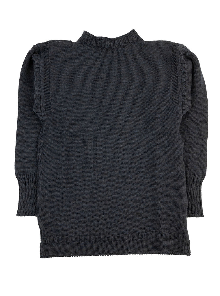 Channel Jumper Burhou Traditional Guernsey Dark Navy The Northern Fells Clothing Company Full