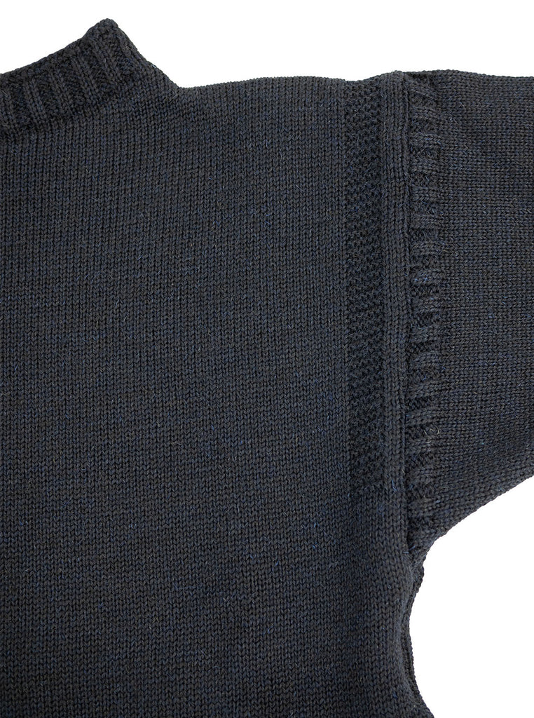 Channel Jumper Burhou Traditional Guernsey Dark Navy The Northern Fells Clothing Company Ladder