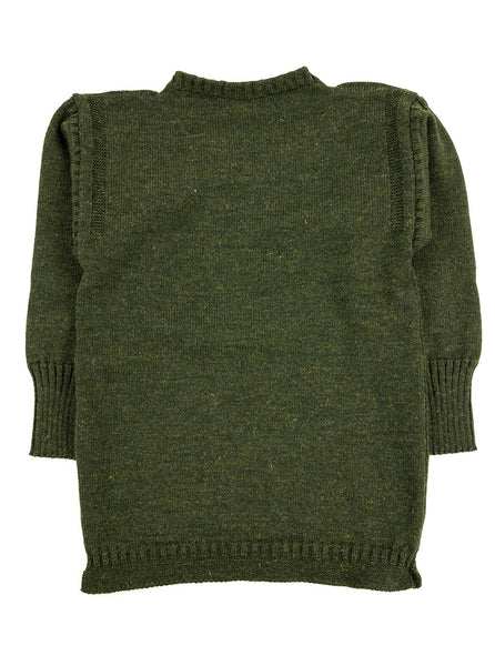 Channel Jumper Burhou Traditional Guernsey Loden Green The Northern Fells Clothing Company Full