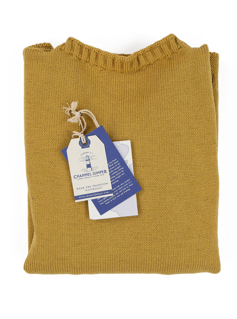 Channel Jumper Burhou Traditional Guernsey Sunflower The Northern Fells Clothing Company Folded