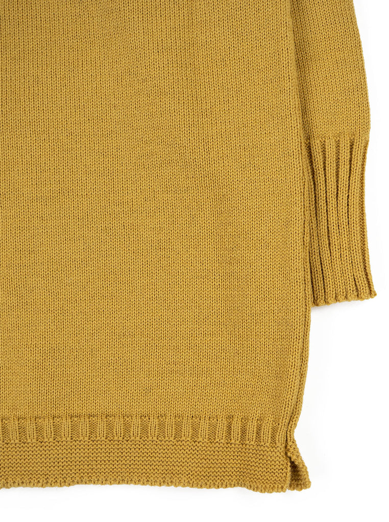 Channel Jumper Burhou Traditional Guernsey Sunflower The Northern Fells Clothing Company Sleeve