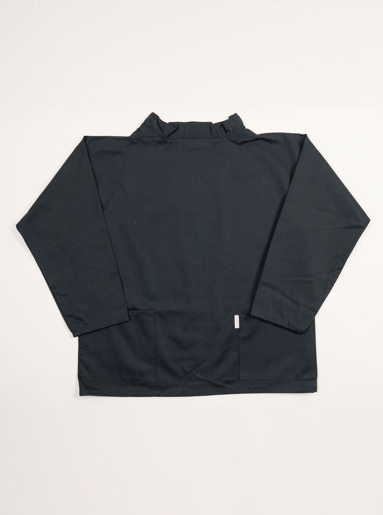 Cornish Smocks - Classic Crew Neck Fisherman Smock - Black - Northern Fells