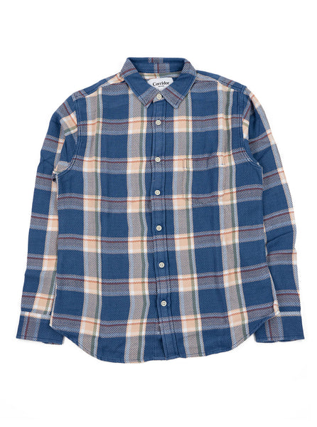 Corridor Acid Plaid Vintage Indigo The Northern Fells Clothing Company Full