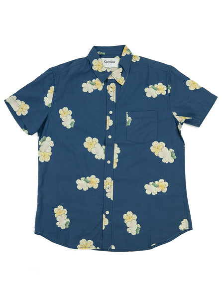 Corridor Blue Hawaiian Short Sleeve Shirt The Northern Fells Clothing Company Full