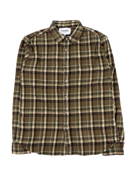Corridor Fuzzy Flannel Olive The Northern Fells Clothing Company Full