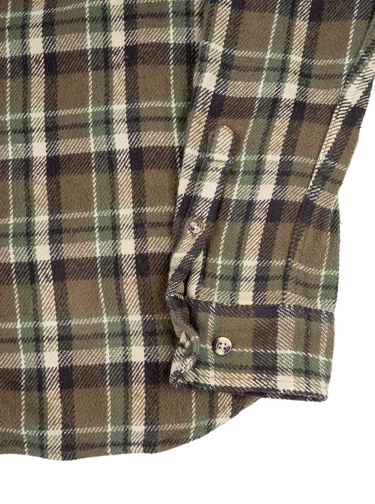 Corridor Fuzzy Flannel Olive The Northern Fells Clothing Company Sleeve