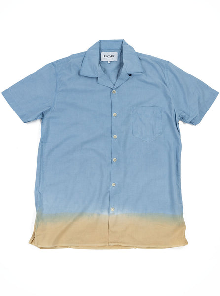 Corridor Hand Painted Selvedge Shirt Blue The Northern Fells Clothing Company Full