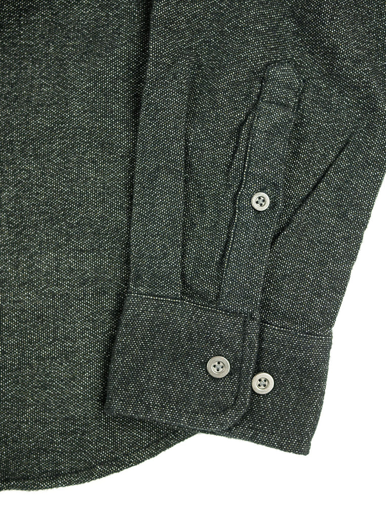 Corridor - Brushed Flecked Black Flannel LS - Black - Northern Fells