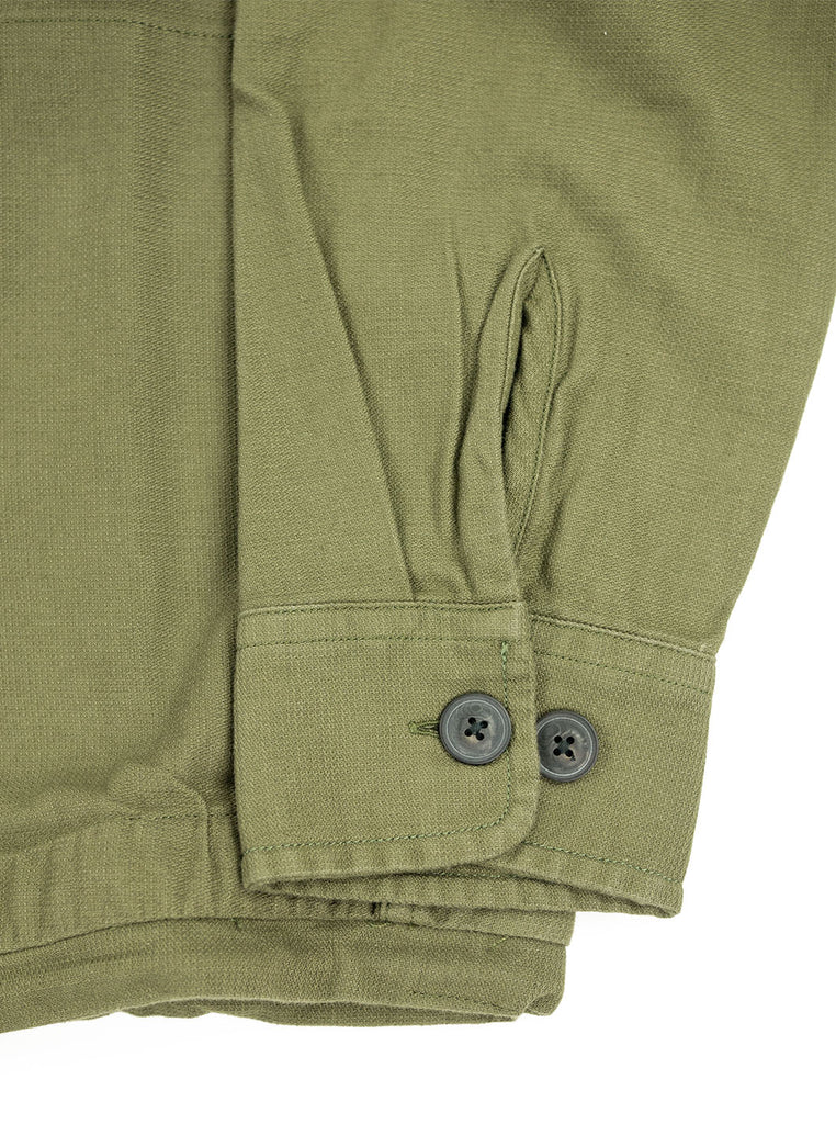 Corridor Olive Dobby Service Shirt The Northern Fells Clothing Company Cuff