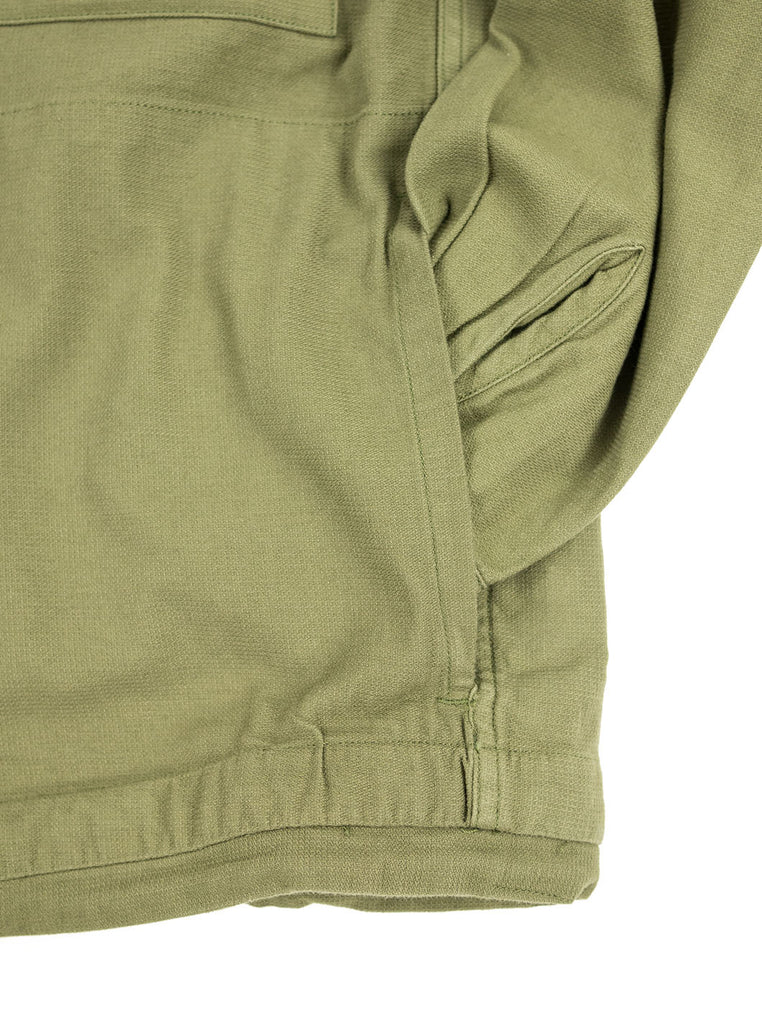 Corridor Olive Dobby Service Shirt The Northern Fells Clothing Company Detail